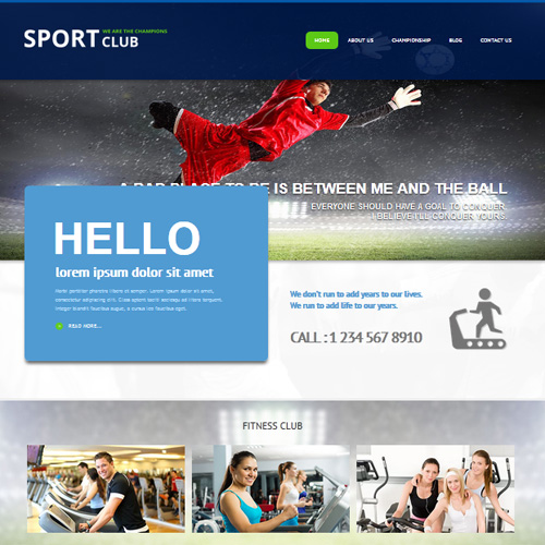 AS 002067 Sport Club Joomla Template