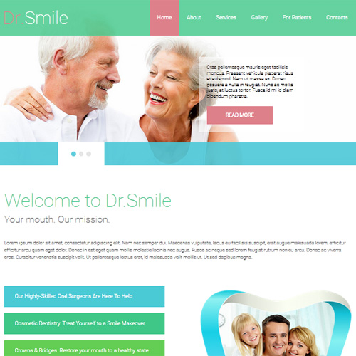 002082 Dr Smile Joomla Template by AS Templates