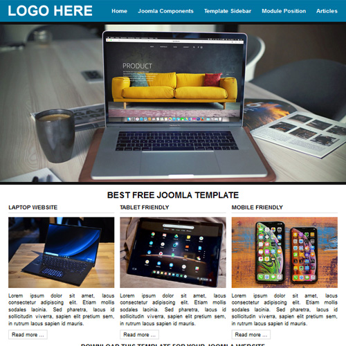 A1 Blue Responsive Joomla Template by Web Design