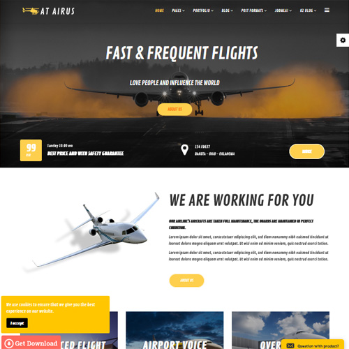 AT Airus Joomla Airline Template