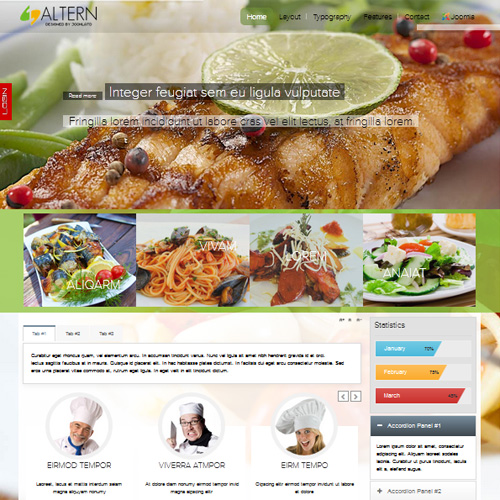 TD Altern Joomla Restaurant Template