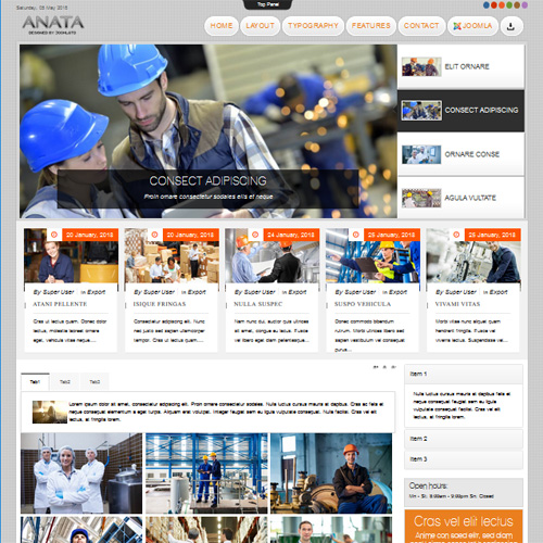 TD Anata Construction Joomla Template