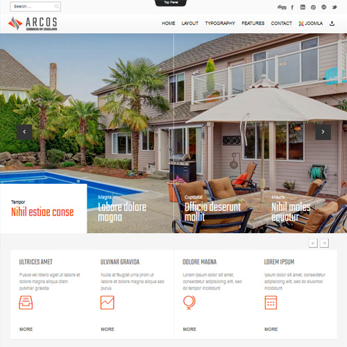 TD Arcos Real Estate Joomla Template