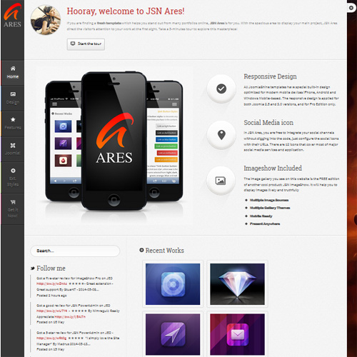 JSN Ares Joomla Application Template
