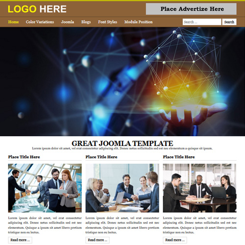 B2 Brown Responsive Joomla Template