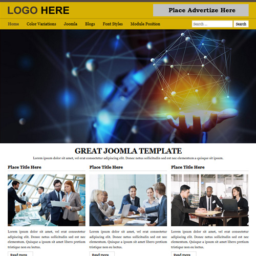 B2 Yellow Responsive Joomla Template