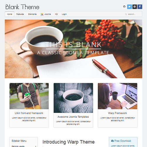 Download free wt blank joomla template for Joomla empty template