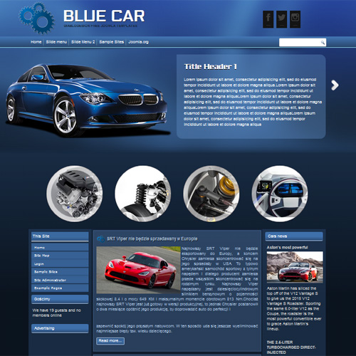 DD Blue Car Joomla Template