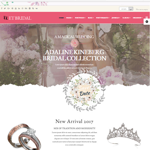 Bridal Joomla Template by Engine Templates