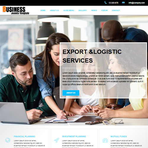 DD Business 3 Joomla Template