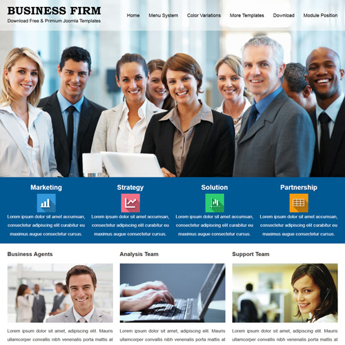 JSR Business Firm Responsive Joomla Template