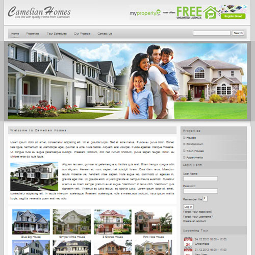 Camelian Homes Responsive Joomla Template by Primer Themes