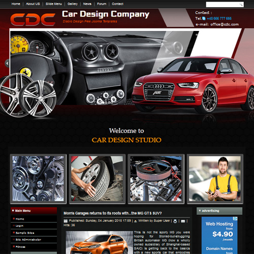 Free joomla car template.