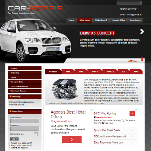 Car template free joomla theme | car templates | joomla templates.