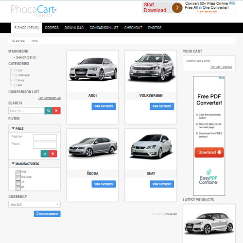 Cart Joomla Template