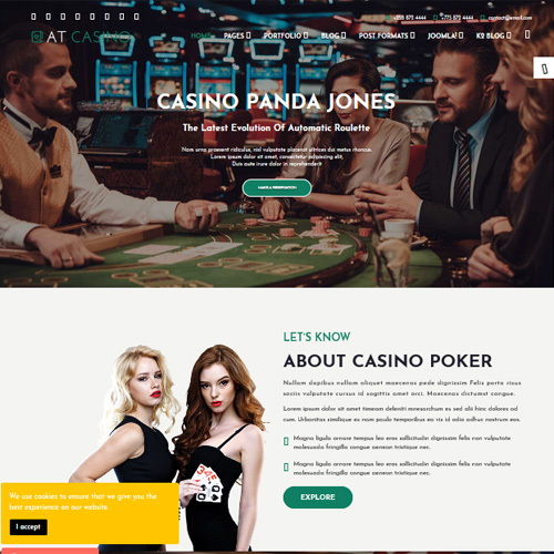 AT Casino Responsive Joomla Template