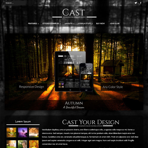 Cast Joomla Template
