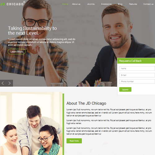 Chicago Joomla Template by JOOMDEV