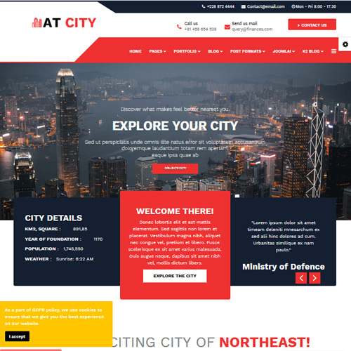 AT City Responsive Guide Joomla Template