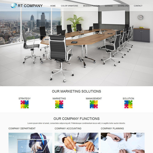 Company Joomla Template by Rush Themes
