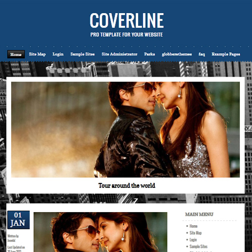 Coverline Blue Joomla Template