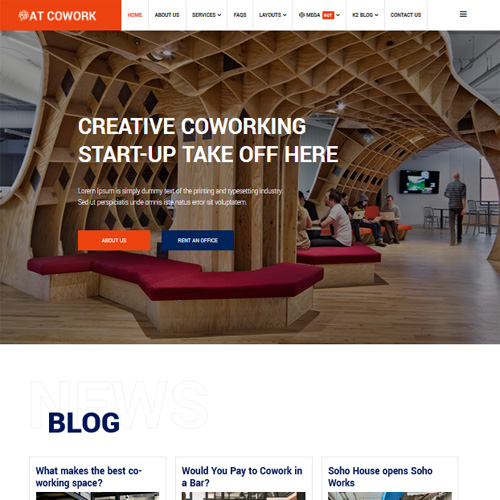 AT Cowork Responsive Joomla Template