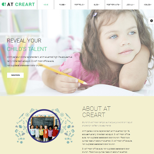 AT CreArt Onepage Responsive Onepage Joomla Graphic Design Template