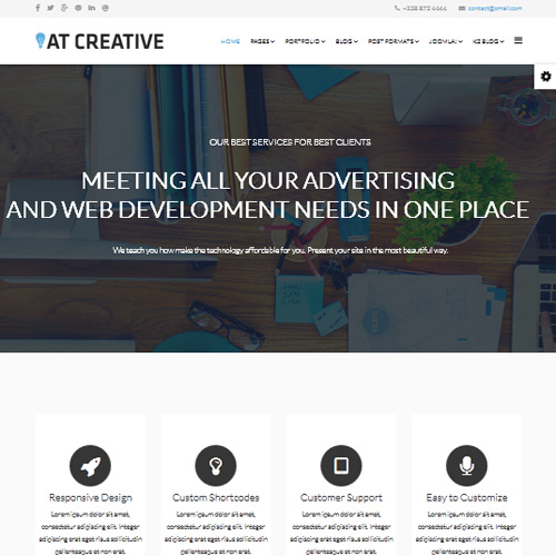 AT Creative Joomla Template