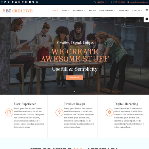 Creative Joomla Template by Engine Templates