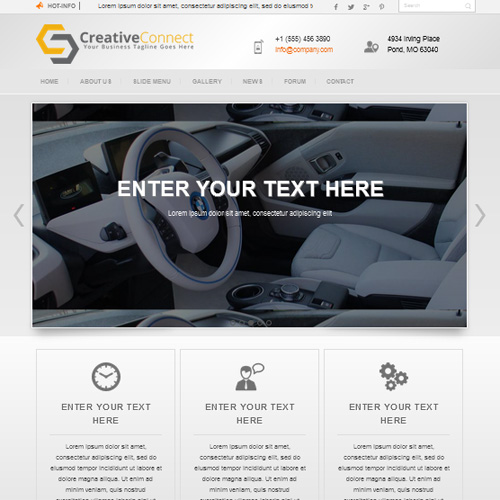 DD Creatvie Joomla Template
