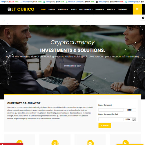 LT Curico Responsive Cryptocurrency Joomla Template
