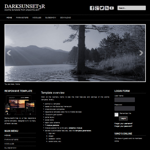 Darksunset3R Joomla Template