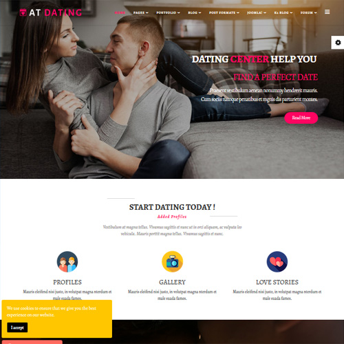 AT Dating Responsive Joomla Template