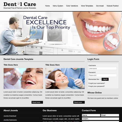 JSR Dental Care Responsive Joomla Template