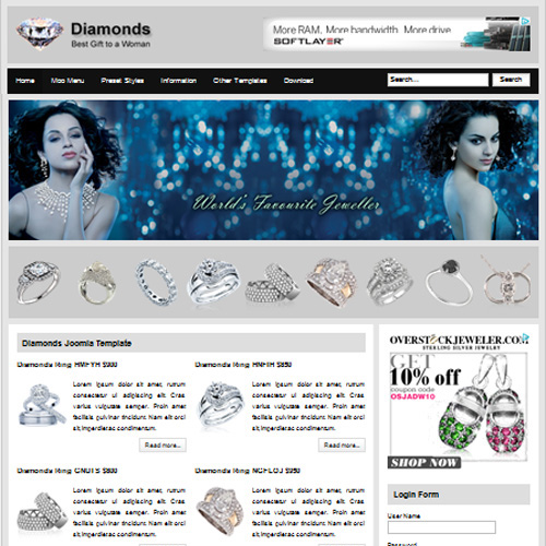 Diamonds Joomla Template