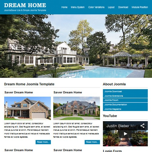 JSR Dream Home Responsive Joomla Real Estate Template