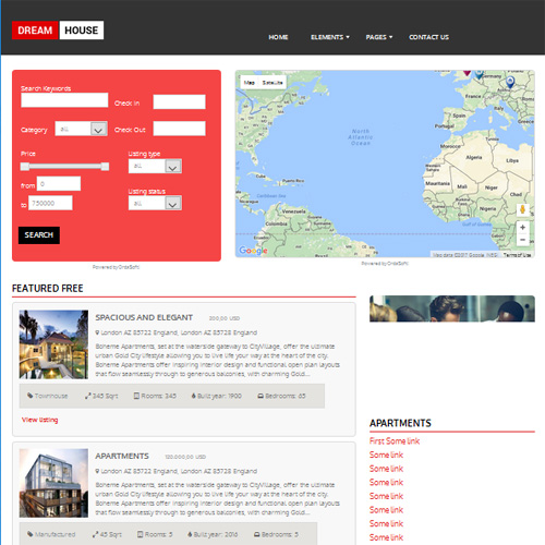 Dream House Joomla Template by OrdaSoft