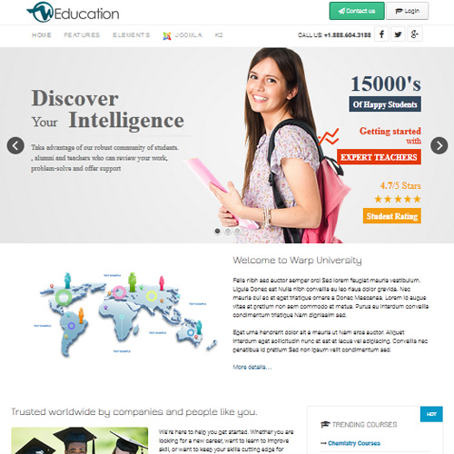 Download free wt education joomla template wt education joomla template maxwellsz