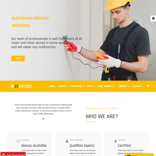LT Electric Responsive Joomla Electrical Template