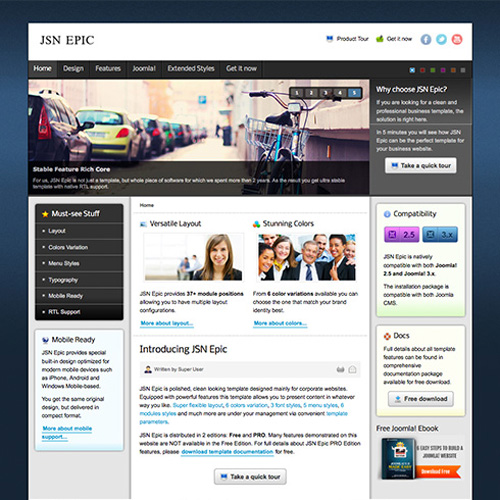 JSN Epic 2 Joomla Template