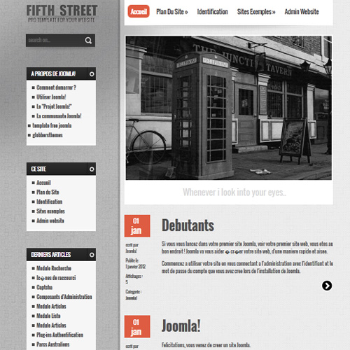 Fifth Sreet Joomla Template