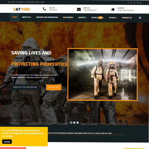 AT Fire Joomla Template