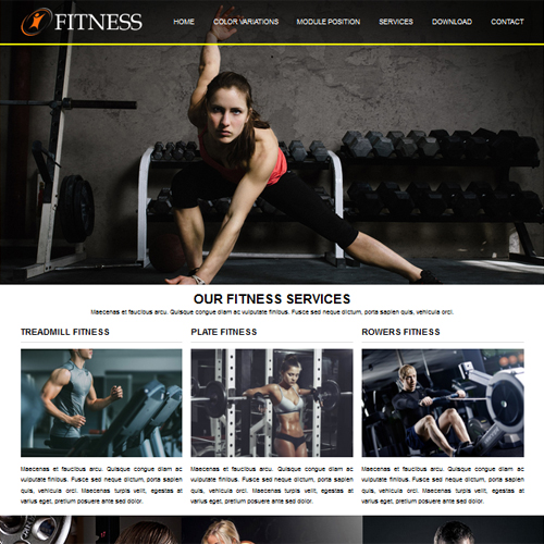 RT Fitness Responsive Gym Joomla Template