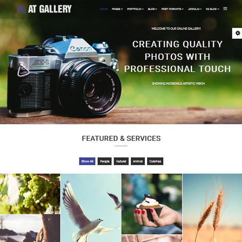 AT Gallery Joomla Photography Template