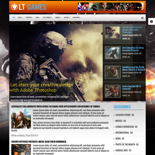 Download Free LT Games Joomla Template