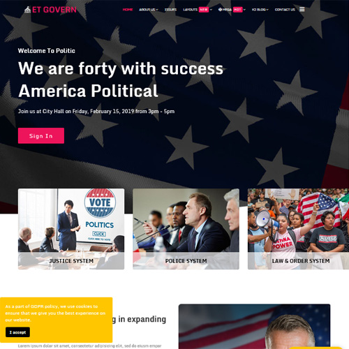 ET Govern Joomla Template