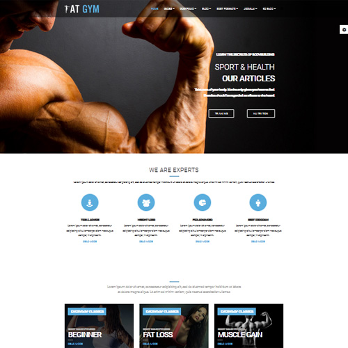AT Gym Joomla Template
