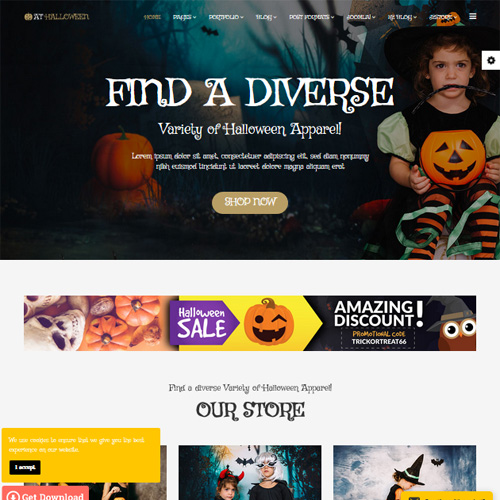 AT Halloween Responsive Joomla Template