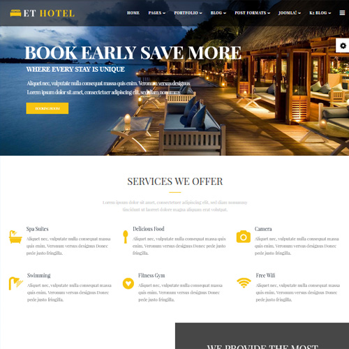 Hotel Joomla Template by Engine Templates