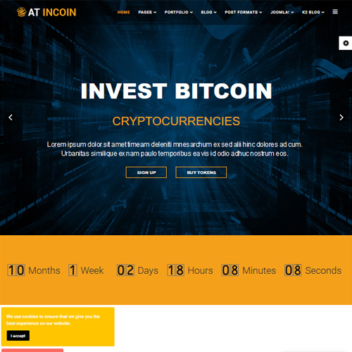 AT InCoin Responsive Joomla Template